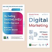 Combo sách truyền thông marketing: Xu Hướng Thương Hiệu Thời Đại 4.0 + Digital Marketing - Kế Hoạch 7 Bước Để Thu Hút Khách Hàng (Sách kinh tế)