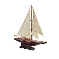 Mô Hình Du Thuyền Đua Gỗ J Endeavour (Thân 30cm - Gỗ Tự Nhiên)