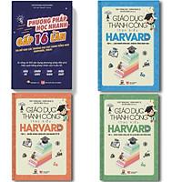Combo Trọn bộ Giáo dục thành công theo kiểu Harvard + Phương pháp học nhanh gấp 16 lần