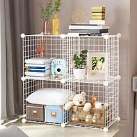 Tủ kệ lưới lắp ghép trưng bày đồ chơi cho trẻ và vật dụng các loại