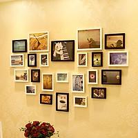 Bộ 23 khung ảnh Composite Treo Tường Hình Trái Tim KA2303 Miễn phí phụ kiện.