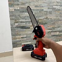 máy cắt gỗ cưa cành mini chạy bằng pin - Giao màu ngẫu nhiên