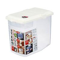 Thùng gạo 10kg nắp bật có bánh xe & ca đong nội địa Nhật Bản