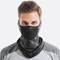 Men Face Shield Sunscreen Stretchy Breathable Moisture-wicking Anti-UV Cycling Hiking Outdoor Face Guard Veil