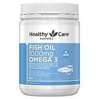 Viên uống bổ sung dầu cá cho mắt Healthy Care Fish Oil 1000mg Omega 3 400 Capsules