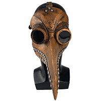 Hot Copper Silver Nail Halloween Mask Plague Steam Beak Doctor Mask Festive Party Supplies