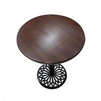 Bàn cafe chân gang đúc mặt bàn tre ép HIGHLAND D60N - Màu nâu cánh dán sang trọng