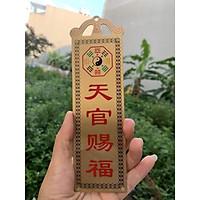 Kim Bài Thiên Quan Tứ Phước - Thái Sơn Thạch Cảm Đương - Sơn Hải Trấn 18.5cm x 5.5cm cao cấp, chất lượng