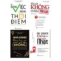 Combo Đúng Việc Đúng Thời Điểm - Những Bài Học Vàng Trong Khởi Nghiệp + Nhà Hàng Không Bao Giờ Nói Không + Khi Nói Không Tôi Thấy Tội Lỗi  + Nói Chuyện Thú Vị Như Người Nhật