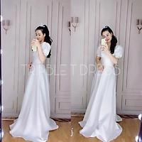Đầm dự tiệc mặc cưới sang trọng xếp ly ngực TRIPBLE T DRESS - size M/L (kèm ảnh/video thật) MS156Y