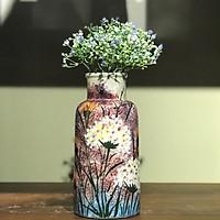 Lọ gốm men vẽ hoa trinh nữ