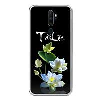 Ốp lưng dẻo cho điện thoại Oppo A5 2020 - 0434 LOTUS04 - Hàng Chính Hãng
