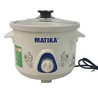 Nồi kho cá nấu cháo - Nồi nấu chậm Matika MTK-9125 - Hàng chính hãng