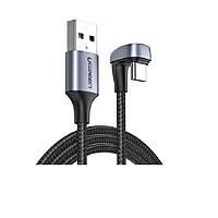 Cáp USB type C 1M bẻ chữ U màu đen sạc nhanh đầu bọc nhôm chống nhiễu Ugreen 70313 US311 Hàng Chính Hãng