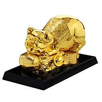 Tượng heo phong thủy mạ vàng Phúc Lộc Thọ