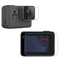 Kính cường lực màn hình sau và Camera trước GoPro Hero 7 Black KingMa- Hàng chính hãng