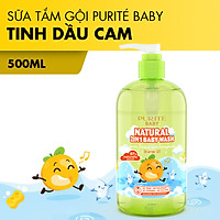 [Hàng Chính Hãng] Sữa Tắm Gội Thiên Nhiên Tinh Dầu Cam Purité Baby 500ml