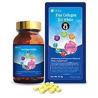 Thực phẩm bảo vệ sức khỏe Fine Collagen Q Ext White ( Viên uống hỗ trợ bổ sung Collagen kết hợp Glutathione giúp da trắng sáng và tươi trẻ )