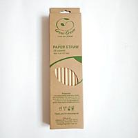 Ống hút giấy Growgreen màu giấy kraft nguyên bản