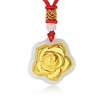 Mặt dây Phỉ thúy dát vàng 24K Hoa Hồng Ancarat