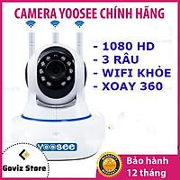 Camera Wifi Trong Nhà Yoosee 3.0 Full HD, 3 Râu, Xoay 360 độ , Đàm Thoại 2 Chiều, Cảm Biến Báo Động – Hàng nhập khẩu