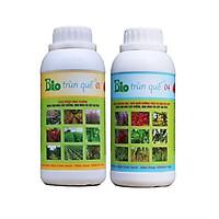 Combo 2 chai Phân Trùn quế 01 và 04 hữu cơ sinh học chuyên hoa cây kiểng rau màu cây ăn trái dùng cho thổ - thủy canh