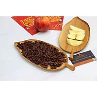 Khay gỗ Decor chiếc lá BUZEN - Gỗ Tần Bì tự nhiên an toàn