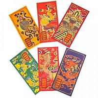 Set 6 bao lì xì vintage - Hoa Văn Đại Việt