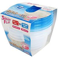 Hộp nhựa đựng thực phẩm Smart Flap 260mlx4