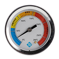 KKmoon Stainless Steel Thermometer Bi-Metal Thermometer Dial Thermometer 0~280℃ for Grill Barbecue Smoker Oven