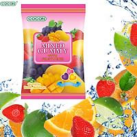 KẸO DẺO HƯƠNG TRÁI CÂY TỔNG HỢP COCON - COCON MIXED GUMMY WITH FRUIT JUICE (Gói 100gr)
