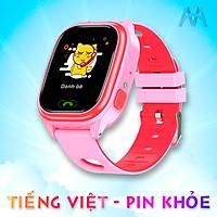 Đồng Hồ Thông Minh Trẻ Em ngôn ngữ Tiếng Việt, Pin sử dụng được 2 ngày, dây đeo có Hoa văn hình Trái tim Dễ thương Model Y85 Pro - Hàng nhập khẩu