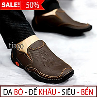 giày lười nam da bò đế cao su khâu-xem hàng mới thanh toán