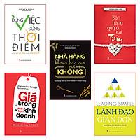 Bookset: Những Bài Học Vàng Trong Khởi Nghiệp (Đúng Việc+Nhà Hàng Ko Nói Ko+Quý Ở Cái Tâm+Lãnh Đạo Giản Đơn+Giá trong KD)