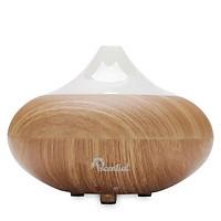 Máy xông tinh dầu phun sương giả vân gỗ cao cấp hình búp sen