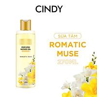 Sữa tắm nước hoa dưỡng ẩm sáng da Cindy Bloom Romantic Muse mùi hương quyến rũ lãng mạn 270g