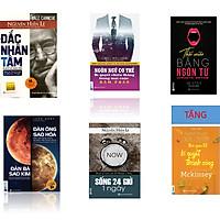 Bộ sách đắc nhân tâm : Đàn ông sao hỏa đàn bà sao kim +Đắc nhân tâm - Bí quyết để thành công+ Ngôn ngữ cơ thể - Bí quyết chiến thắng mọi cuộc đàm phán+Thôi miên bằng ngôn từ+Sống 24 giờ một ngày+ Tặng cuốn Nghệ thuật ghi chép MCkíney PN