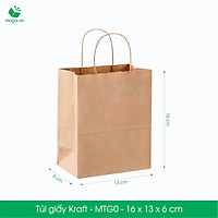 MTG0 - COMBO 50 TÚI GIẤY KRAFT - 16 x 13 x 6 cm