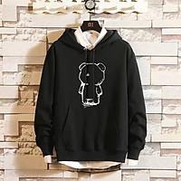 Áo Hoodie Nỉ Bông Unisex Streetwear Gấu Rỗng ( unisex nam nữ đều mặc được)