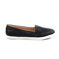 Giày lười đế bằng chất liệu da thật cao cấp - Giày lười da phối màu thể thao PABNO PN17001