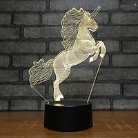 Đèn ngủ 3D hình ngựa phi