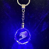 Móc khóa pha lê thủy tinh phát sáng FAIRY TAIL - HỘI PHÁP SƯ anime