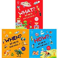 Sách Combo 3 cuốn What - When - How Bố Mẹ Ơi! (Tặng kèm 3 bút chì thông minh)