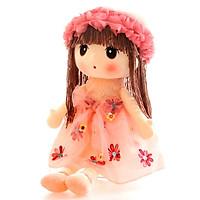 Búp bê bông cô bé váy voan đính hoa  cao 40cm