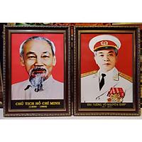 Cặp ảnh chân dung Bác Hồ & Bác Giáp (in dầu cao cấp )