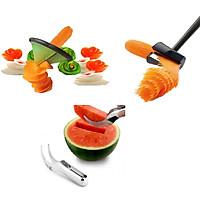 Combo 3 món dụng cụ nhà bếp cắt gọt rau củ quả tiện lợi