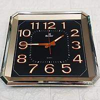 Đồng hồ Eastar Vuông vát góc, Máy kim trôi, có Dạ quang, Mặt số màu Đen