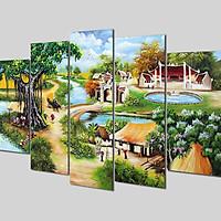 Tranh treo Tường 3D Đồng quê DQNEW01- Tranh treo tường 3D