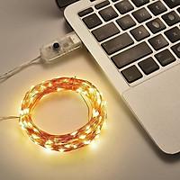 [Đầu Cắm USB] Dây đèn Led đom đóm 5M Vàng nắng, dây màu bạc đèn chipsbling Fairy Light