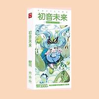 Postcard Hatsune Miku hộp ảnh có sticker dán lomo bưu thiếp tặng thẻ Vcone